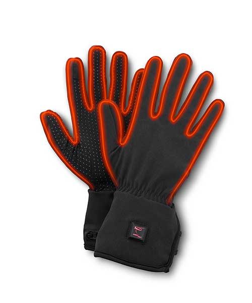 Thin heated gloves