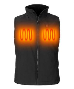 Lady heated vest in Softshell